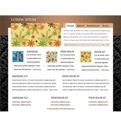 retro website template vector image