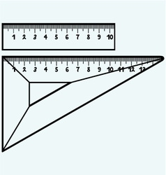 Rulers in millimeters vector