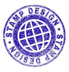 scratched textured stamp design stamp seal vector image
