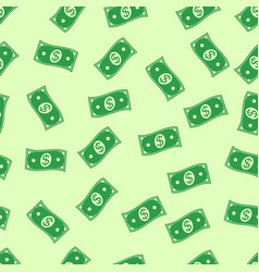 seamless background money rain flying in air vector image