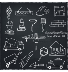 Set of doodle sketch Architecture Construction vector image