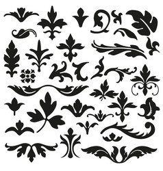Set of flourishes calligraphic elegant ornament ve vector