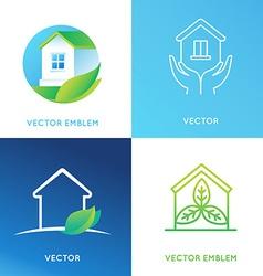 set of logo design templates vector image vector image