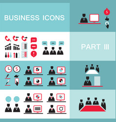 set of web icons for business finance office vector image