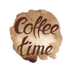 spot coffee time coffee vector image