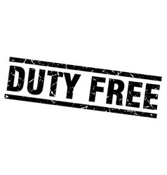 Square grunge black duty free stamp vector
