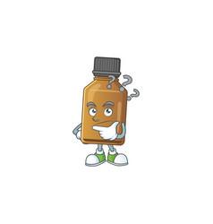 Syrup cure bottle mascot design concept having vector