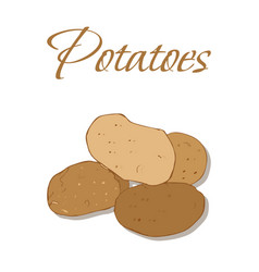 tasty veggies potatoes vector image