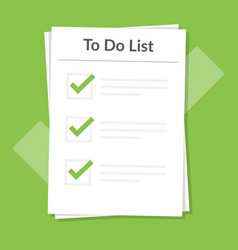 To do list icon concept all tasks are completed vector