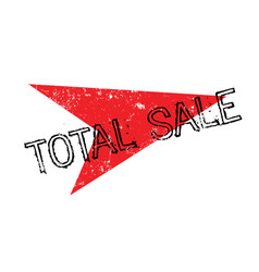 Total sale rubber stamp vector