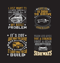transportation quote set car quote and saying set vector image
