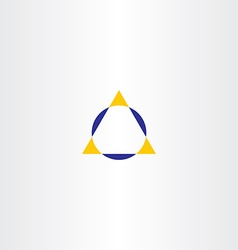 Triangle and circle geometry logo icon vector