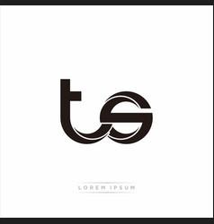 Ts initial letter split lowercase modern monogram vector
