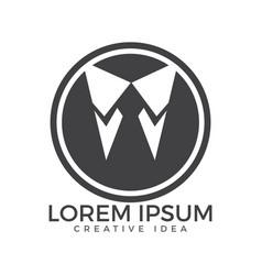 Tuxedo logo business man logo design vector