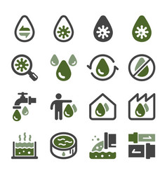 waste water icon set vector image