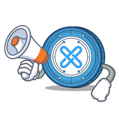 With megaphone gxshares coin character cartoon vector