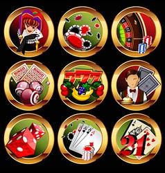 gambling vector image vector image