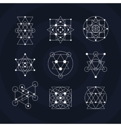 Sacred geometry symbols vector