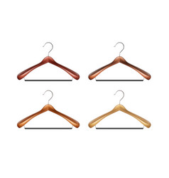 set of clothes hangers vector image