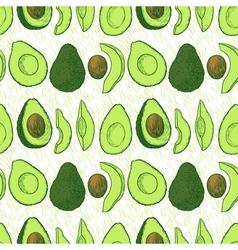 Avocado seamless vector