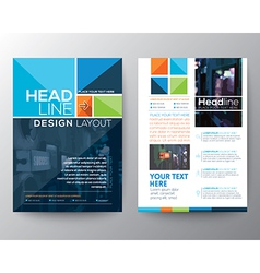 Brochure Flyer design Layout template in A4 size vector image vector image