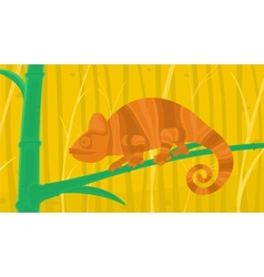 Chameleon in the Forest vector image vector image