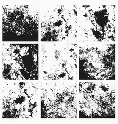 collection of grunge textures vector image