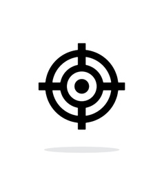 Crosshair icon on white background vector image