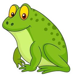 Cute green frog cartoon vector image vector image