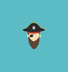 flat icon pirate element of vector image vector image