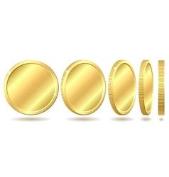 golden coin vector image vector image
