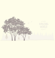 amazing tree vector image vector image