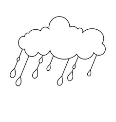 claud rain icon character 03 vector image