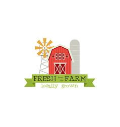 fresh from the farm concept logo stock vector image