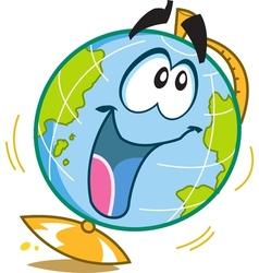 Happy Fun Globe vector image vector image