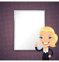 Purple Business Background with Businesswoman vector image vector image