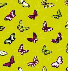 seamless highly detailed background with butterfli vector image vector image