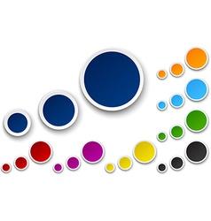 Set of paper color bubbles vector image