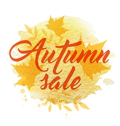 Abstract yellow autumn background vector image vector image