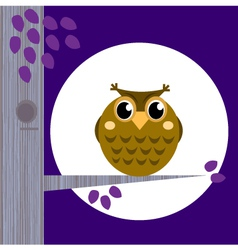 cute halloween owl vector image