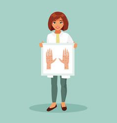 female dermatologist vector image