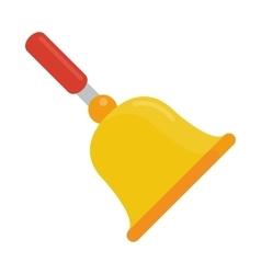 gold school bell flat vector image vector image