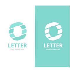 unique letter o logo design template vector image vector image