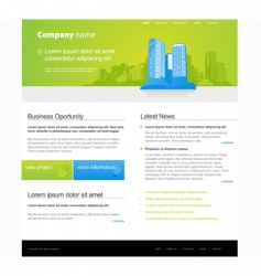website template with city vector image vector image