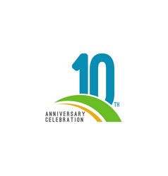 10 year anniversary celebration template design vector