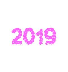 2019 sweet numbers vector