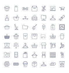 49 empty icons vector