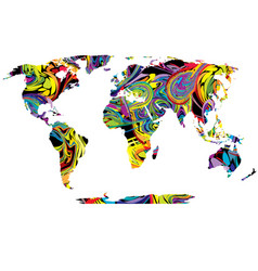abstract colored world map vector image