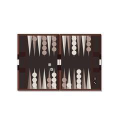 Backgammon board game vector