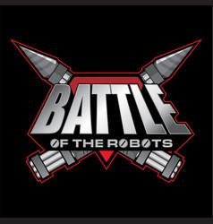 battle of the robots logo vector image